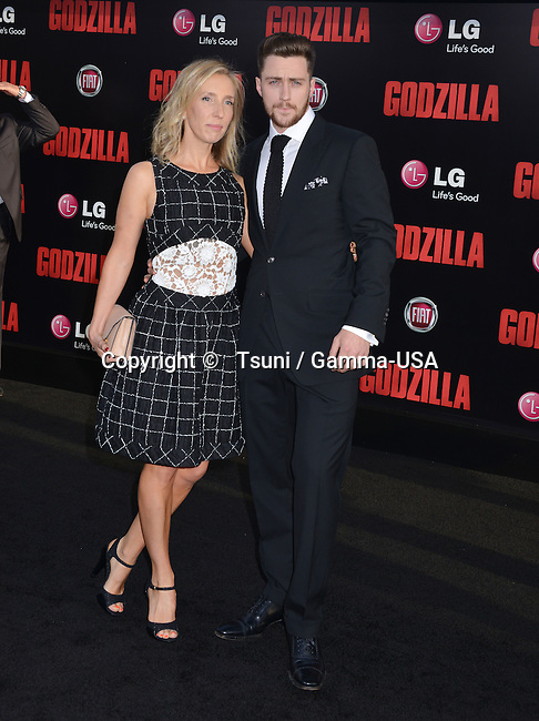 Aaron Taylor-johnson, Wife Sam Taylor-johnson 023 at the Godzilla Premiere at the Dolby Theatre in Los Angeles.