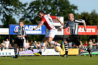 SCHOONEBEEK - Voetbal, SVV 04 - FC Emmen, voorbereiding seizoen 2018-2019, 06-07-2018,  FC Emmen speler Anco Jansen in duel