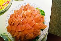 Sashimi plate, Japanese restaurant