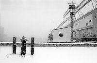 New York, NY - Circa 1979 - The Floating Foundation of Photography moored at Pier 40 on the Hudson River
