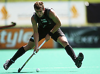 NZ's Nick Haig during the international hockey match between the New Zealand Black Sticks and India at National Hockey Stadium, Wellington, New Zealand on Saturday, 20 February 2009. Photo: Dave Lintott / lintottphoto.co.nz