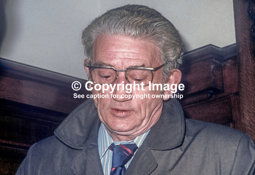 Albert Price, Independent Republican candidate, West Belfast, N Ireland, in February 1974 UK General Election. He is father of Marian &amp; Dolours Price, sisters, who were convicted of Old Bailey car bombing in London in March 1973. 1974020000093a<br />