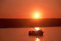 Commercial fishing trawler boat, Kachemak Bay, Homer, Alaska