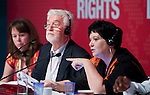 Berlin-Germany - May 23, 2014 -- International Trade Union Confederation - 3rd ITUC World Congress 'Building Workers' Power'; here, João Felício (ce)(Joao Felicio) / CUT - Central Única dos Trabalhadores (Unified Workers' Central), new ITUC-President, with Sharan Burrow (ri), ITUC-General Secretary -- Photo: © HorstWagner.eu / ITUC