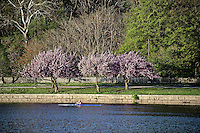 Rowing along the Schuylkill River, Philadelphia, Pennsylvania