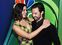 NEW YORK, NY - MAY 13: Mandy Moore and Milo Ventimiglia at the NBC 2019 Upfront Presentation at the Four Seasons Hotel in New York City on May 13, 2019. <br /> CAP/MPI/JP<br /> &copy;JP/MPI/Capital Pictures