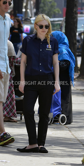 WWW.ACEPIXS.COM . . . . .  ....July 5, 2012, New York City....Actress Dakota Fanning on the set of the new movie 'Very Good Girls' on July 5, 2012 in New York City......Please byline: CURTIS MEANS - ACE PICTURES.... *** ***..Ace Pictures, Inc:  ..Philip Vaughan (212) 243-8787 or (646) 769 0430..e-mail: info@acepixs.com..web: http://www.acepixs.com