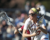 Boston College midfielder Mikaela Rix (17).