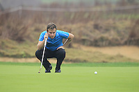 Tyrrell Hatton (ENG) on the 14th green during Friday's Round 2 of the 2014 BMW Masters held at Lake Malaren, Shanghai, China 31st October 2014.<br /> Picture: Eoin Clarke www.golffile.ie