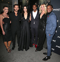 CULVER CITY, CA - MARCH 7: Eva Mauro, Ryan Kwanten, Katrina Law, Cory Hardrict, Elisabeth Rohm and Alren Escarpeta pictured at Crackle's The Oath Premiere at Sony Pictures Studios in Culver City, California on March 7, 2018. <br /> CAP/MPIFS<br /> &copy;MPIFS/Capital Pictures