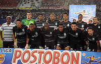 BARRANQUIILLA -COLOMBIA-27-06-2013. Jugadores de Atlético Nacional posan para una foto previo al partido con Atlético Junior por la fecha 15 de la Liga Postobón II 2014 jugado en el estadio Metropolitano Roberto Meléndez de la ciudad de Barranquilla./ Players of Atletico Nacional pose to a photo prior a match against Atletico Junior for the 15th date of the Postobon League II 2014 played at Metropolitano Roberto Melendez stadium in Barranquilla city.  Photo: VizzorImage/Alfonso Cervantes/STR