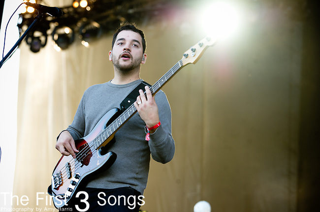 Zach Cooper of Coheed and Cambria performs during the 2012 Voodoo Experience at City Park in New Orleans, Louisiana.