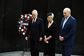 U.S. Secretary of Defense James Mattis, General John Kelly, White House Chief of Staff and Cindy McCain, wife of late Senator John McCain, lay a ceremonial wreath honoring all whose lives were lost during the Vietnam War at at the Vietnam Veterans Memorial in Washington, U.S., September 1, 2018.    <br /> Credit: Mary F. Calvert / Pool via CNP