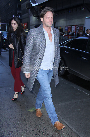 NEW YORK, NY March 16, 2017 Josh Lucas at the Late Show with Stephen Colbert in New York March 16, 2017. Credit:RW/MediaPunch