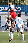CD Leganes' players Raul (36) and Juan Munoz (14) and Rayo Vallecano's player Alex Moreno during friendly match. July 13,2019. (ALTERPHOTOS/Johana Hernandez)