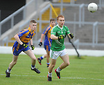 13-08-2014 : : Thomas Hickey, St, Kierans, in action against Patrick Clifford,  Kenmare District, in the  Kerry U-21 football Championship final at Fitzgerald Stadium, Killarney,  on Wednesday night. Picture: Eamonn Keogh (MacMonagle, Killarney)