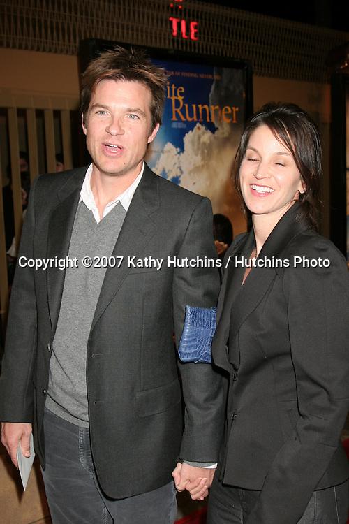 "Jason Bateman & Wife.""The Kite Runner"" Los Angeles Premiere.Egyptian Theater.Los Angeles,  CA.December 4, 2007.©2007 Kathy Hutchins / Hutchins Photo..."