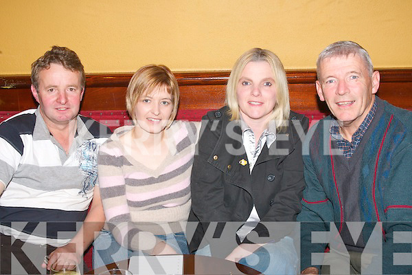 7597-7600.---------.Correct again.-------------.L-R Sylvie O Sullivan,Gerldine Lynch,Helena O Sullivan and Des Hayes who entered in the quiz in aid of REHAB sponsored by Powers Irish whiskey in the Munster bar ballymullen Tralee last Friday nig   Copyright Kerry's Eye 2008