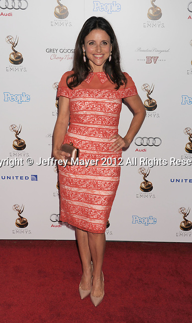 WEST HOLLYWOOD, CA - SEPTEMBER 21: Julia Louis-Dreyfus attends the 64th Primetime Emmy Awards Performers Nominee reception held at Spectra by Wolfgang Puck at the Pacific Design Center on September 21, 2012 in West Hollywood, California.