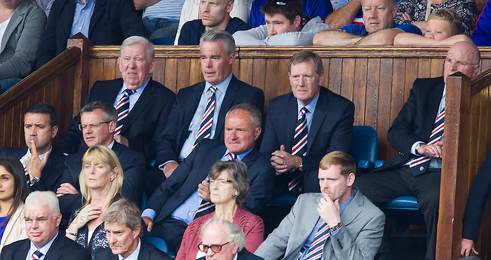 Dave King in the directors box