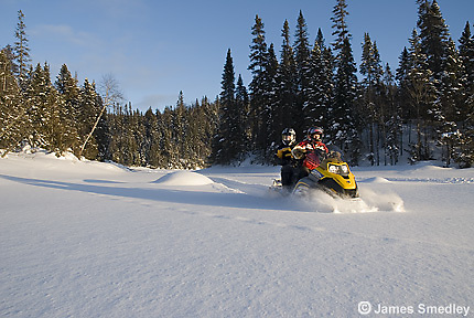 Snowmobiling in Northern Ontario