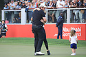 Shane Lowry (IRL) and his wife Wendy during the final round of the Abu Dhabi HSBC Championship presented by EGA played at Abu Dhabi Golf Club, Abu Dhabi, UAE. 17/01/2019<br /> Picture: Golffile | Phil Inglis<br /> <br /> All photo usage must carry mandatory copyright credit (© Golffile | Phil Inglis)