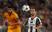 Calcio, Champions League: Juventus vs Siviglia: Torino, Juventus Stadium, 14 settembre 2016. <br /> Juventus&rsquo; Miralem Pjanic eyes the ball during the Champions League Group H football match between Juventus and Sevilla at Turin's Juventus Stadium, 16 September 2016.<br /> UPDATE IMAGES PRESS/Isabella Bonotto