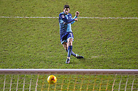 Joe Jacobson of Wycombe Wanderers scores the first kick from the penalty spot in the shootout straight after the 90 minutes during the The Checkatrade Trophy match between Blackpool and Wycombe Wanderers at Bloomfield Road, Blackpool, England on 10 January 2017. Photo by Andy Rowland / PRiME Media Images.