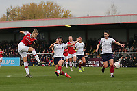 Vivianne Miedema of Arsenal scores the first goal for her team during Arsenal Women vs Liverpool Women, Barclays FA Women's Super League Football at Meadow Park on 24th November 2019