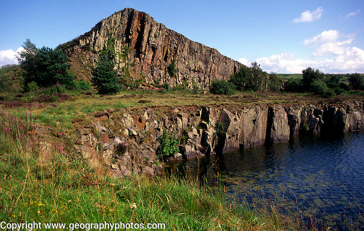 Cawfields crag, Hadrian s wall, Northumberland, England