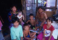 Portrait of fisherman Family