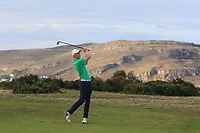 Mark Power from Ireland on the 18th fairway during Round 3 Singles of the Men's Home Internationals 2018 at Conwy Golf Club, Conwy, Wales on Friday 14th September 2018.<br /> Picture: Thos Caffrey / Golffile<br /> <br /> All photo usage must carry mandatory copyright credit (&copy; Golffile | Thos Caffrey)