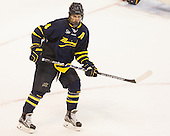 Marc Biega (Merrimack - 4) - The Boston University Terriers defeated the visiting Merrimack College Warriors 4-0 (EN) on Friday, January 29, 2016, at Agganis Arena in Boston, Massachusetts.