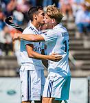 ROTTERDAM- Den Warmerdam (Pinoke)  met Papa na een goal, in actie tegen Den Bosch tijdens de ABN AMRO CUP 2019.  COPYRIGHT KOEN SUYK.