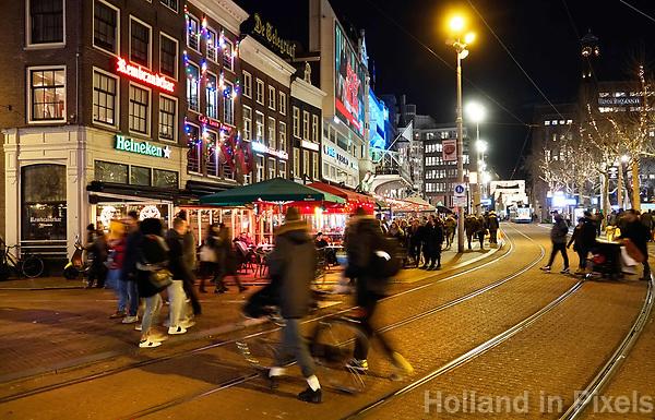Nederland - Amsterdam - Januari 2019. Horeca op het Rembrandtplein. Foto Berlinda van Dam / Hollandse Hoogte.