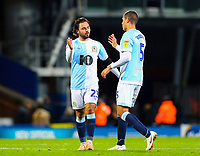 Blackburn Rovers' Bradley Dack shakes hands with Jack Rodwell after the match<br /> <br /> Photographer Alex Dodd/CameraSport<br /> <br /> The EFL Sky Bet Championship - Blackburn Rovers v Rotherham United - Saturday 10th November 2018 - Ewood Park - Blackburn<br /> <br /> World Copyright &copy; 2018 CameraSport. All rights reserved. 43 Linden Ave. Countesthorpe. Leicester. England. LE8 5PG - Tel: +44 (0) 116 277 4147 - admin@camerasport.com - www.camerasport.com