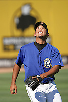 Baudilio Lopez of the Rancho Cucamonga Quakes during game against the Stockton Ports at The Epicenter in Rancho Cucamonga,California on August 15, 2010. Photo by Larry Goren/Four Seam Images