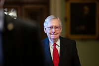 United States Senate Majority Leader Mitch McConnell Arrives to the United