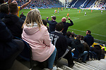 Fans watching the home team on the attack at the during the second-half viewed from the Alan Kelly Stand as Preston North End take on Reading in an EFL Championship match at Deepdale. The home team won the match 1-0, Jordan Hughill scoring the only goal after 22nd minutes, watched by a crowd of 11,174.