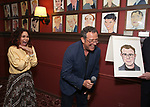 Daphne Rubin-Vega and Michael Grief attends the Michael Grief Sardi's Portrait Unveiling at Sardi's on 4/27/2017 in New York City.