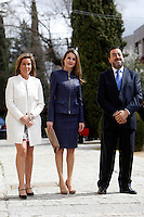 Spanish Minister of Health, Social services and Equality  Ana Mato, Princess Letizia of Spain and ONCE President Miguel Carballeda attend 'Discapnet Awards' 2013 at the ONCE building in Madrid, Spain. March 11, 2013. (ALTERPHOTOS/Caro Marin) /NortePhoto