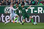 15.04.2018, Weser Stadion, Bremen, GER, 1.FBL, Werder Bremen vs RB Leibzig, im Bild<br /> <br /> Timo Werner (RB Leipzig #11)<br /> Milos Veljkovic (Werder Bremen #13)<br /> <br /> Foto &copy; nordphoto / Kokenge