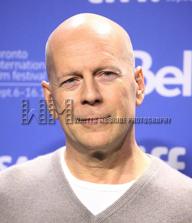 Bruce Willis attending the The 2012 Toronto International Film Festival Photo Call for 'Looper' at the TIFF Bell Lightbox in Toronto on 9/6/2012