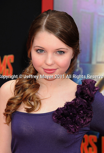 """HOLLYWOOD, CA - MARCH 06: Sammi Hanratty arrives at """"Mars Needs Moms 3D"""" Los Angeles Premiere at the El Capitan Theatre on March 6, 2011 in Hollywood, California"""