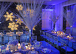 Elegant, festive, Bat Mitzvah  ballroom decor at the Renaissance Hotel.  Decor by X-Quisite Designs, Westchester, New York.