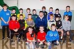 On Thursday evening in St Brendan's Community Centre,Ardfert Barry John Keane (Kerry Footballer & KOR) presented medals to the under 10s of Ardfert Football Club.
