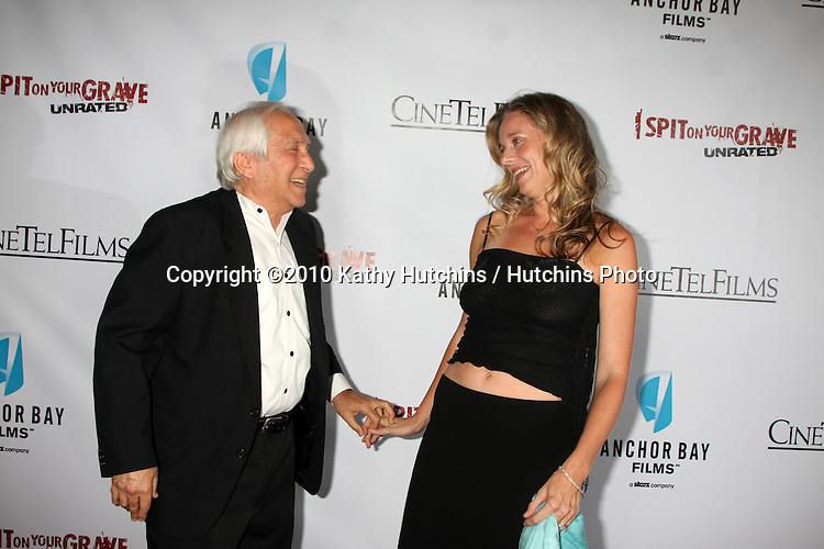"""LOS ANGELES - SEP 29:  Meir Zarchi, Mollie Milligan arrives at the """"I Spit on Your Grave"""" Premiere at Mann Chinese 6 Theaters - Hollywood & Highland on September 29, 2010 in Los Angeles, CA"""