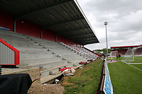 The construction of new North stand is continuing before Stevenage vs Exeter City, Sky Bet EFL League 2 Football at the Lamex Stadium on 10th August 2019