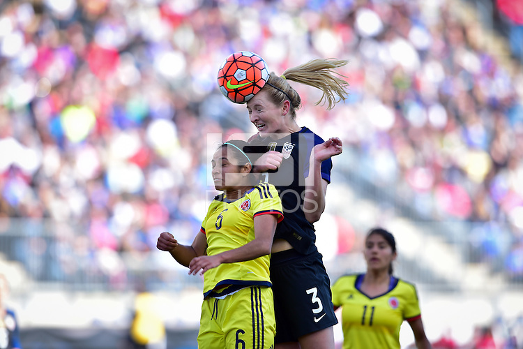 Chester, Pa. - April 10, 2016: The U.S. Women's National team go up 3-0 over Colombia in second half action during an international friendly match at Talen Energy Stadium.