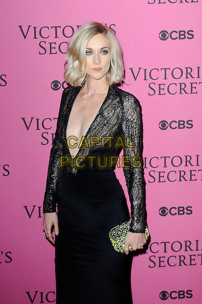LONDON, ENGLAND - DECEMBER 2: Portia Freeman attends the pink carpet for Victoria's Secret Fashion Show 2014, Earls Court on December 2, 2014 in London, England.<br /> CAP/MAR<br /> &copy; Martin Harris/Capital Pictures